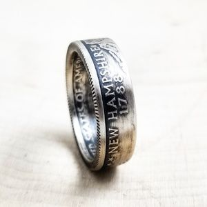 Silver State Coin Ring